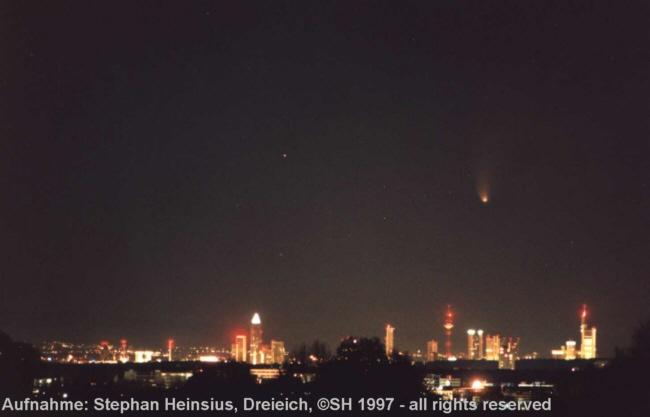 Komet Hale-Bopp über Frankfurt
