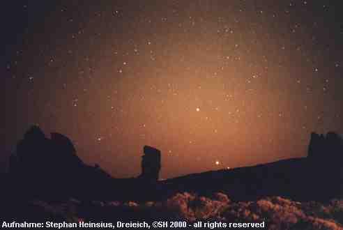 Planeten im Zodiakallicht
