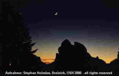 Mond und Planeten