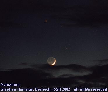 Mond mit Venus und Mars