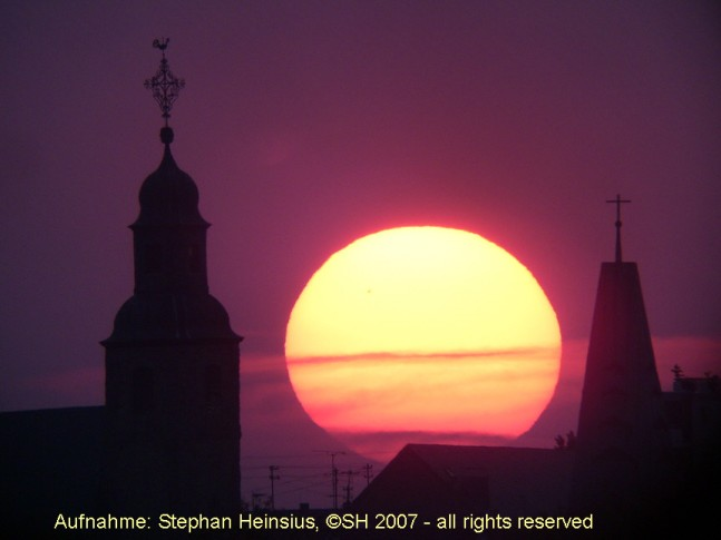 Ökumenischer Sonnenuntergang
